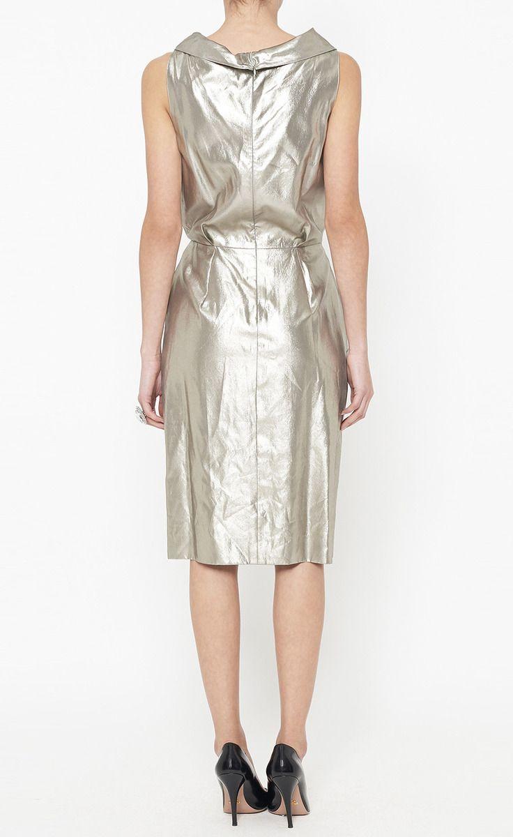 Oscar de la Renta Silver Dress