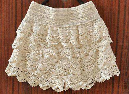 301dc49d2 Falda juvenil | faldas | Short pollera, Faldas tejidas para niñas y ...