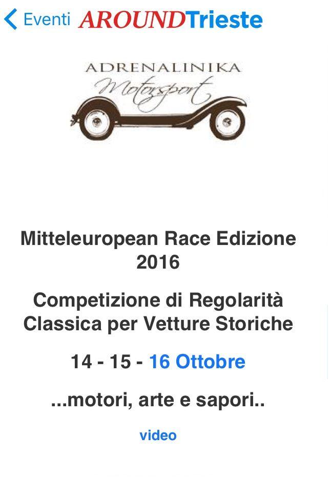 Scarica l'App AroundTrieste e Vivi la città!!...Mitteleuropean Race Edizione 2016 Competizione di Regolarità Classica per Vetture Storiche