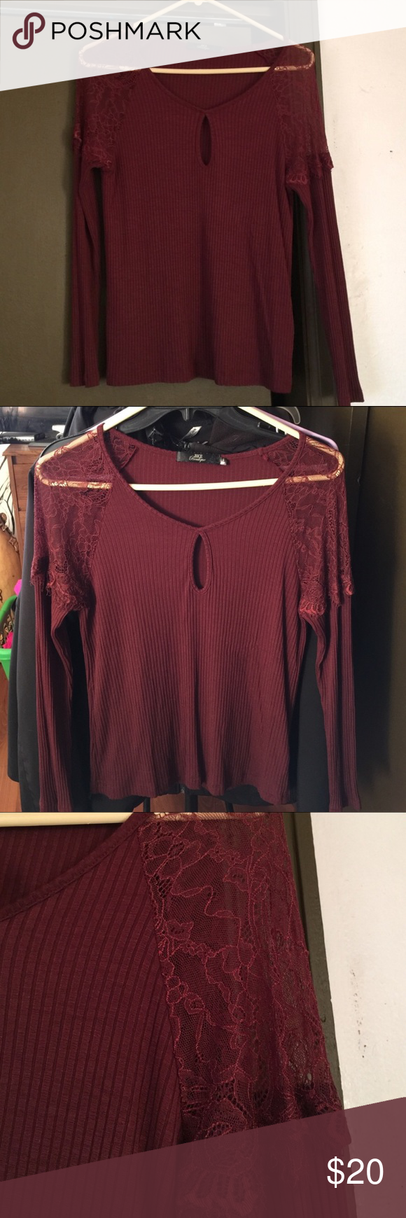 BKE Boutique Top In excellent condition! Like new! It's just too big for me! Very cute on, sexy but very professional top. Still on Buckle.com to $45, I'm asking $20 firm! Thank you! Buckle Tops Tees - Long Sleeve