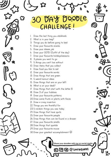 30 DAY DOODLE LIST CHALLENGE