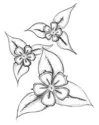 These Looked Pretty Cool So I Tried Them And They Are Fun To Draw They Look Somewhat Hard But They Are Sim Flower Sketches Flower Drawing Easy Flower Drawings