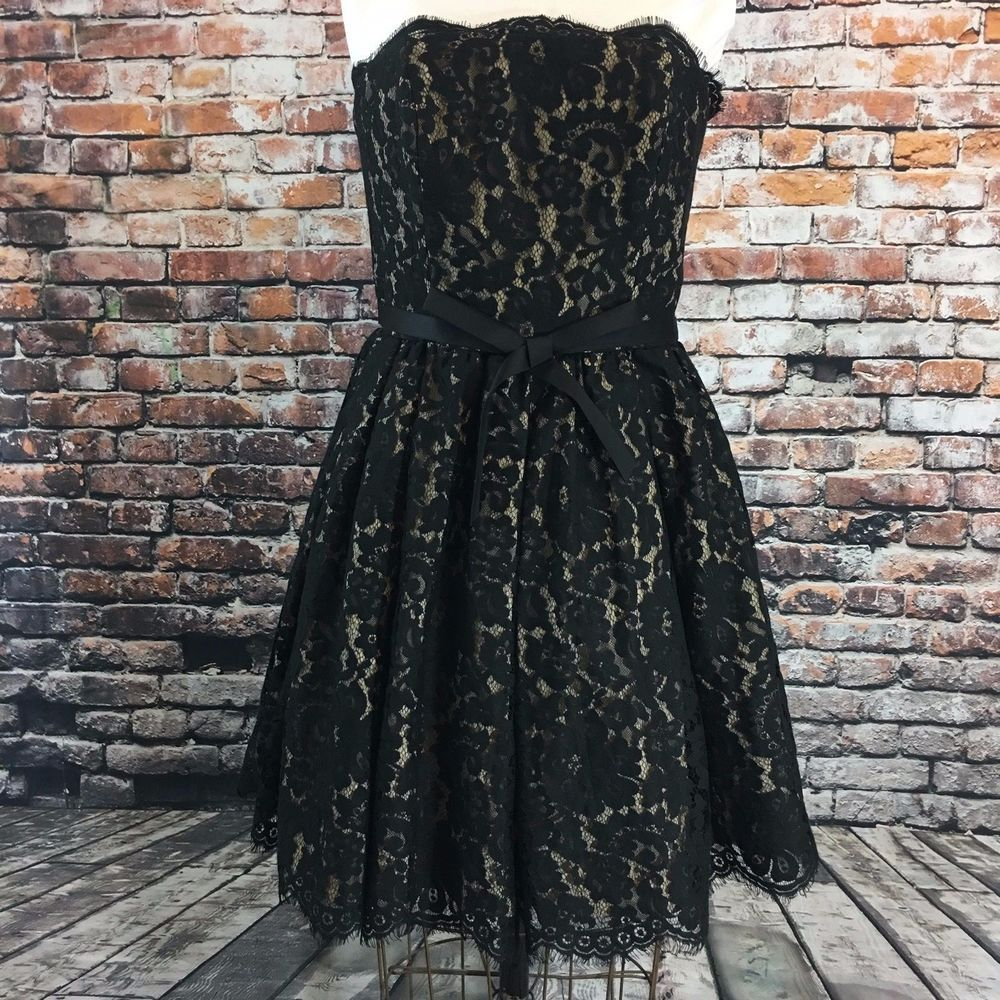 72e1dd66418 Black Lace Strapless Dress Size 2 Robert Rodriguez Neiman Marcus Target NWT   NeimanMarcus  TeaDress  Cocktail