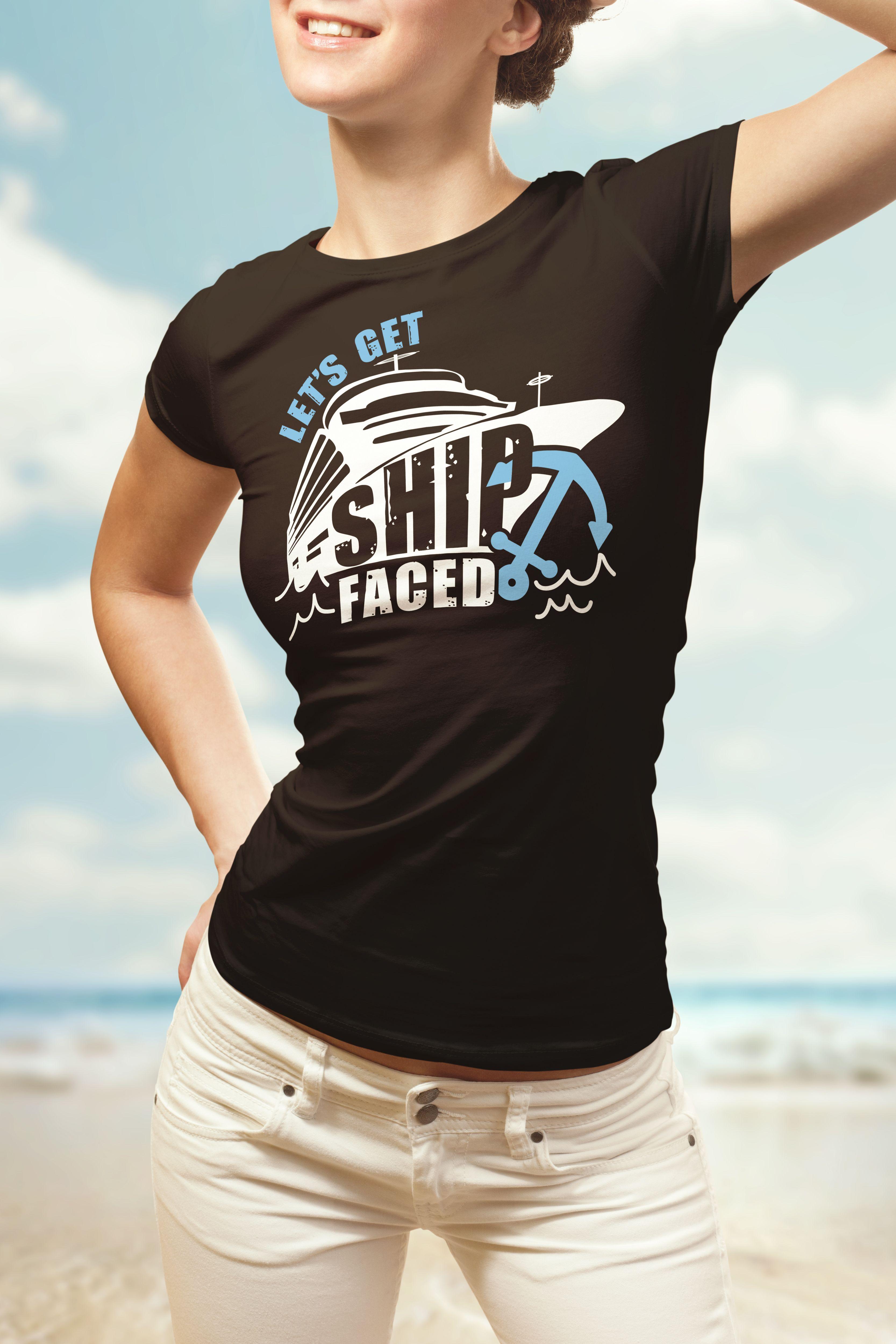 Lets Cruise  Womens cruise Bachelorette Sailing Ship tank top T shirt