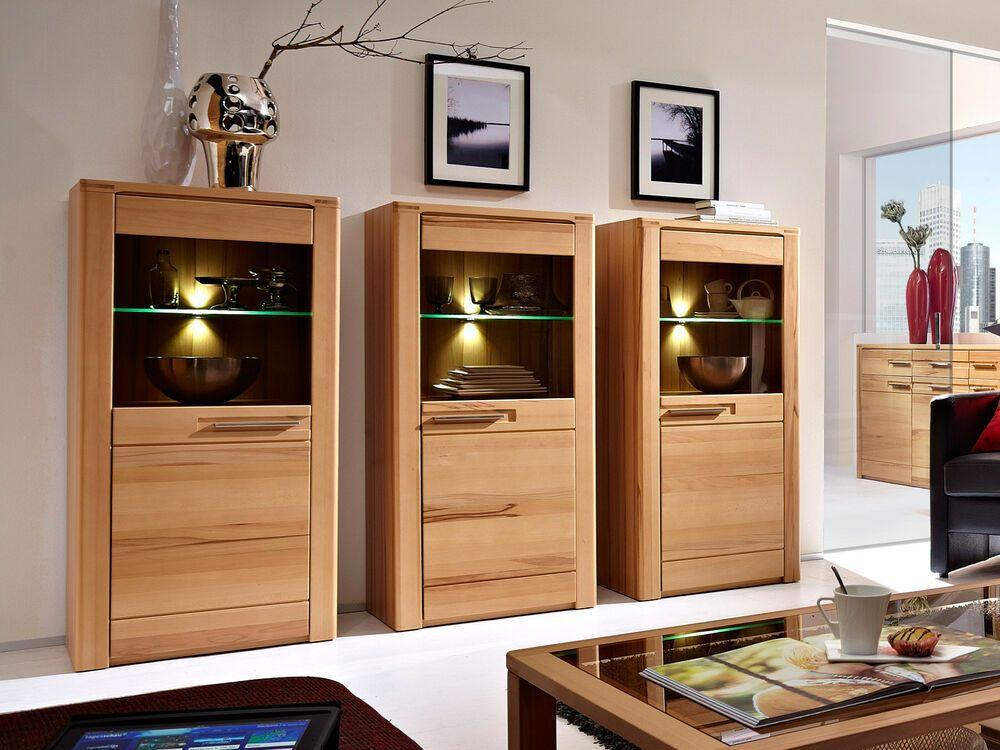 Wohnzimmer Vitrine Nature Plus Wohnzimmer Schrank In Kernbuche Massiv Schrank Design Schrank Wohnzimmer