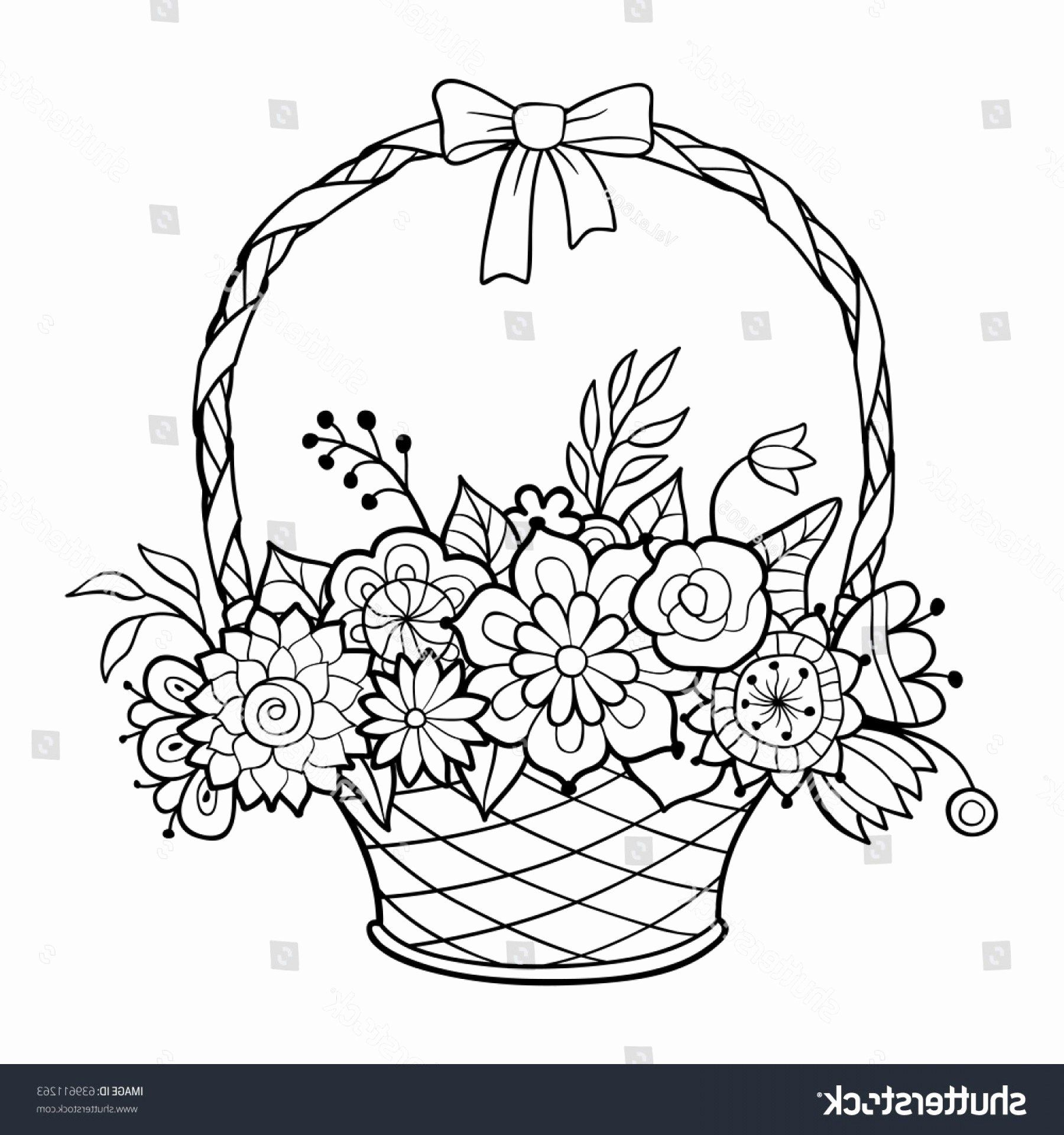 Flowers Coloring Pages Vector Awesome My Little Pony Book Vector Basket Drawing Coloring Pages Flower Coloring Pages