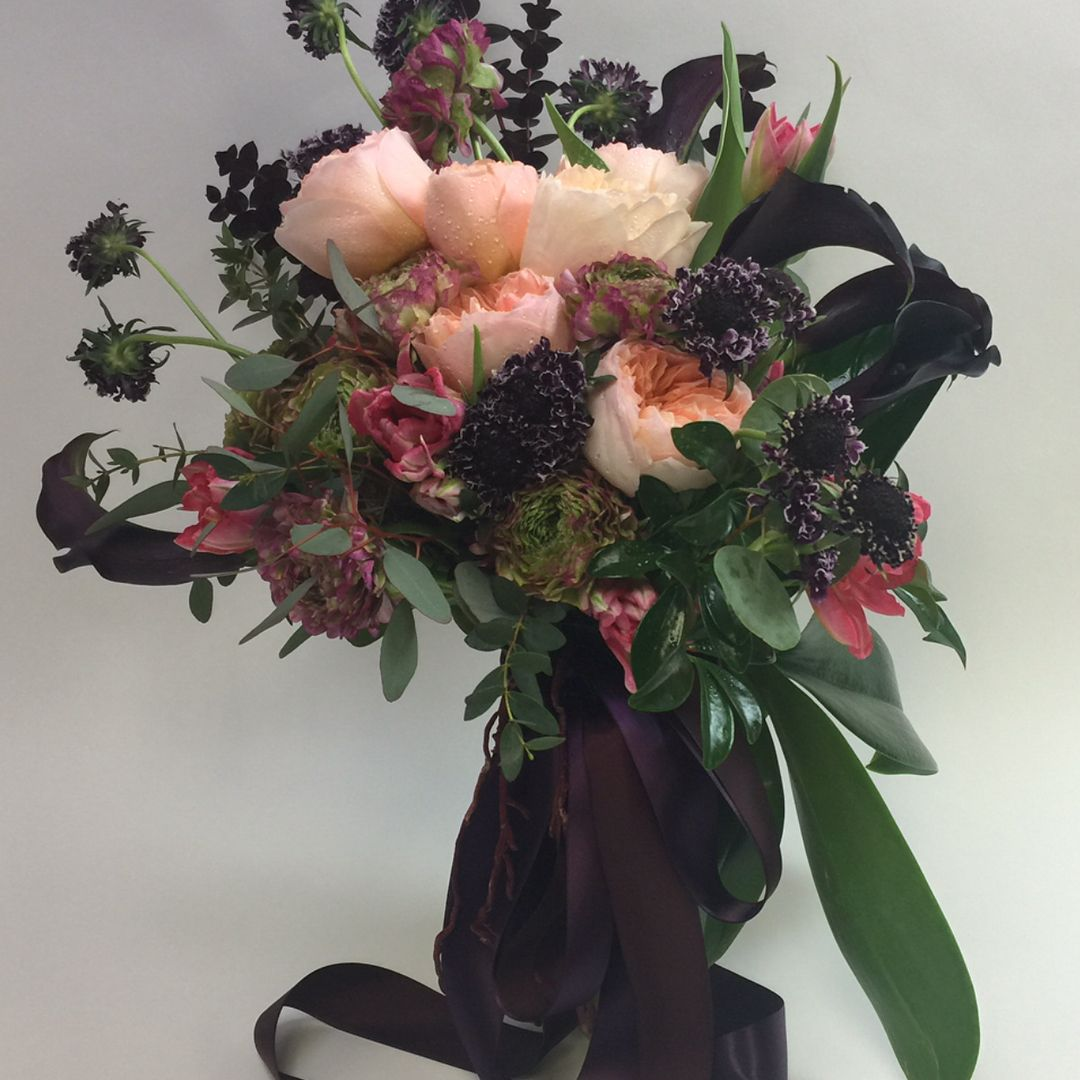 Wonderfully Fragrant Pink Garden Roses Adorn This Beautiful Wedding Bouquet Please Contact 416 855 9984 Toll F Wedding Bouquets Bride Flower Delivery Flowers