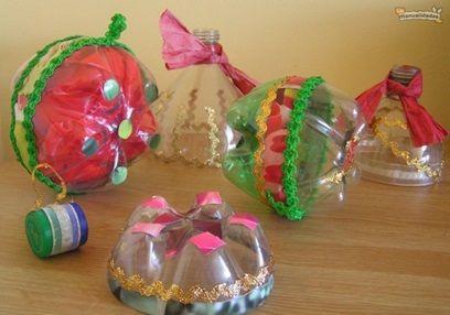 Manualidades para mama con botellas plasticas buscar con for Adornos navidenos reciclados botellas