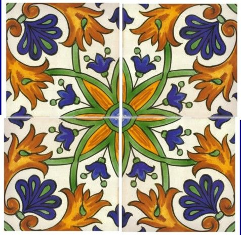 Hand Painted Spanish Tiles Potential