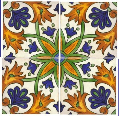 Hand Painted Spanish Tiles Potential Back Splash Sintra Antique Handpainted Portuguese A2 Design 326 Zaragoza 4 Tile