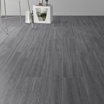 Lame Pvc Clipsable Anthracite Artens Camden Avec Images Pose Carrelage Imitation Parquet Sol Pvc Carrelage Imitation Bois