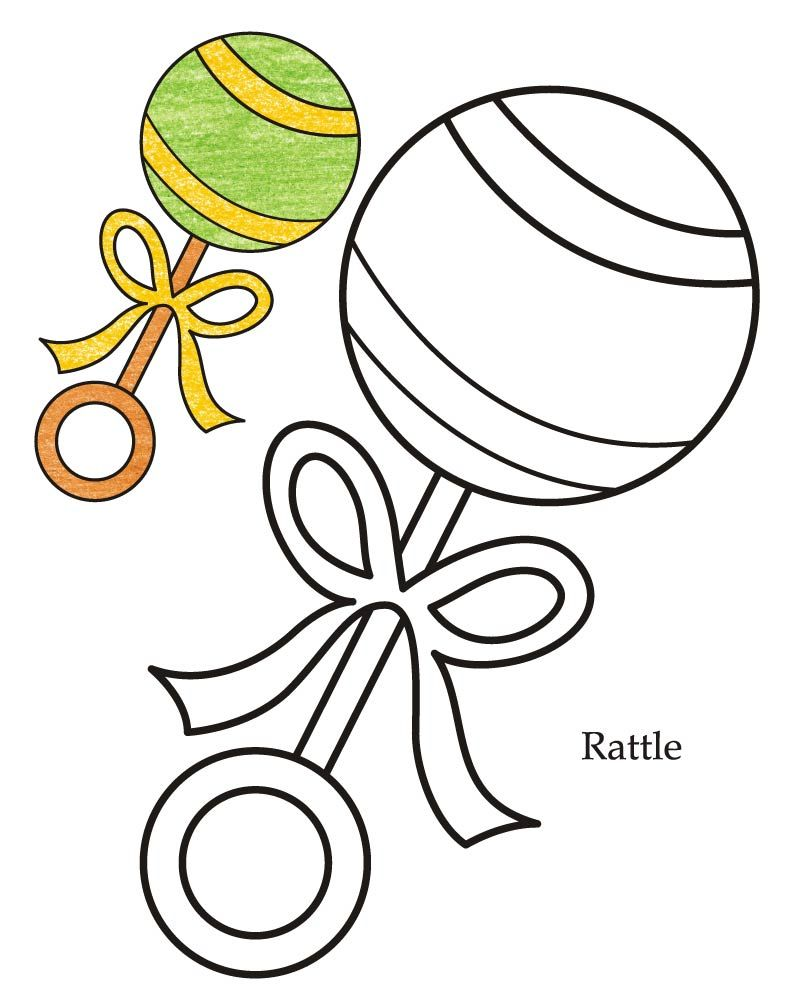 Photo Props Foto Rekvizity Baby Rattle Photo Props Coloring Pages
