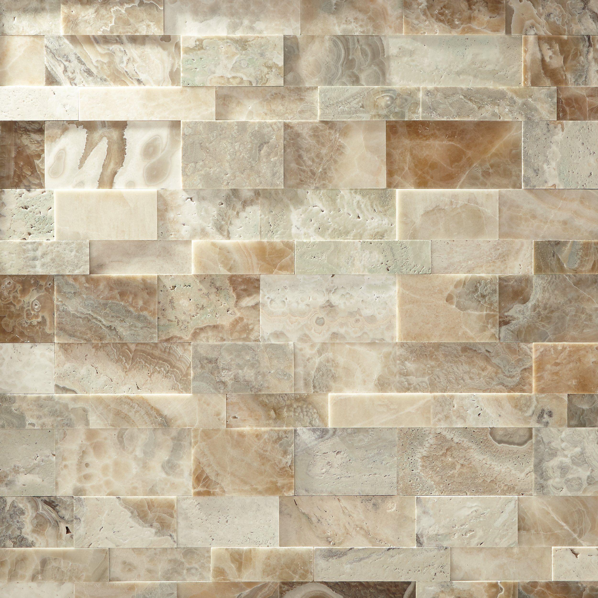 Blue Ridge Random Limestone Panel Ledger Travertine Stacked Stone Brick Effect Wall Tiles