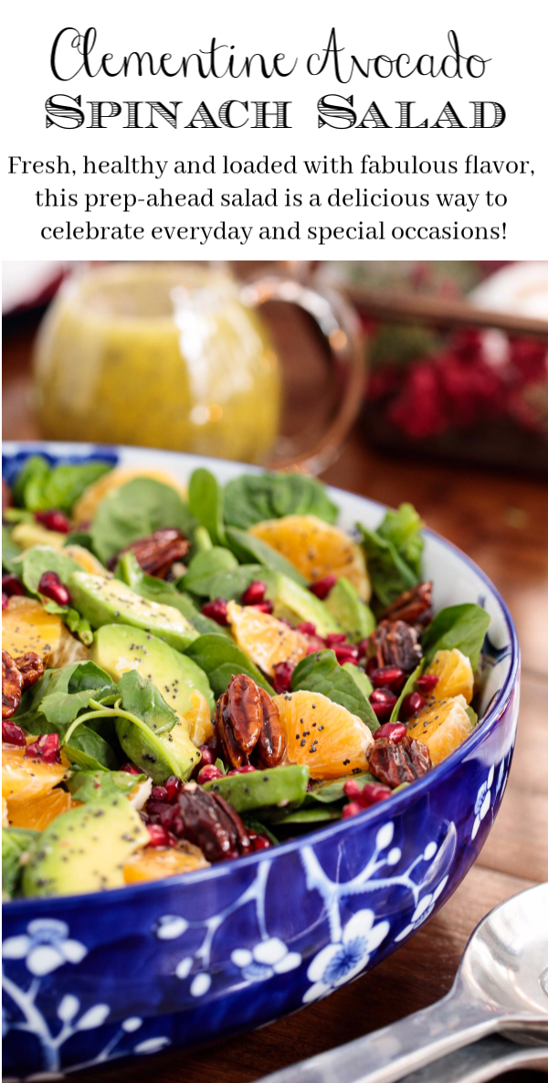 Photo of Clementine Avocado Spinach Salad