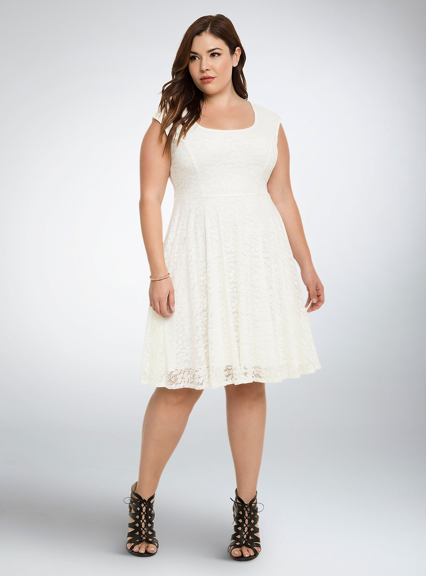 Lace dress styles for funeral  Lace Open Back Skater Dress  Cloud dancer Full skirts and White lace