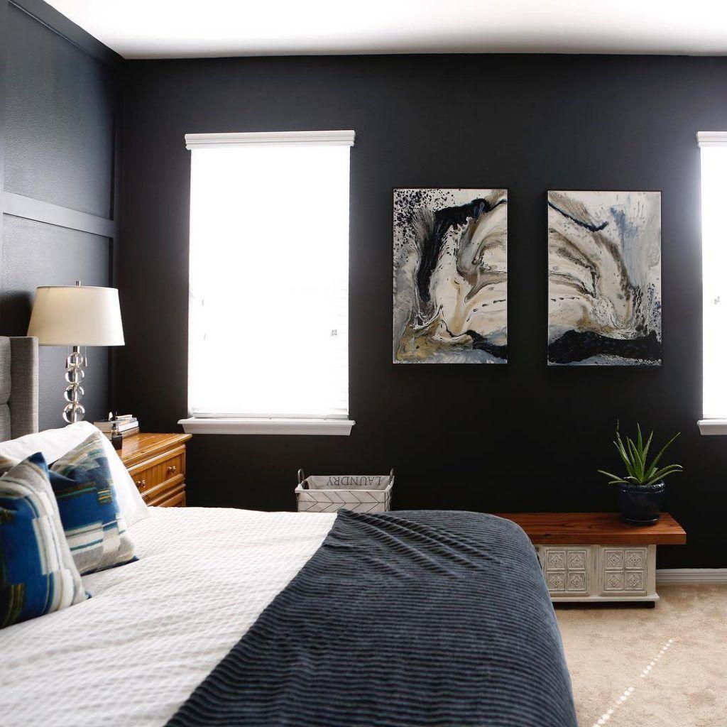 benjamin moore soot black paint bedroom walls  black