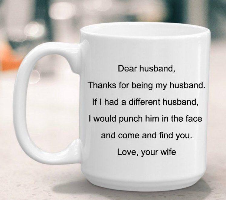 Mug gift for husband, gift for him, Wedding gift, Christmas gift