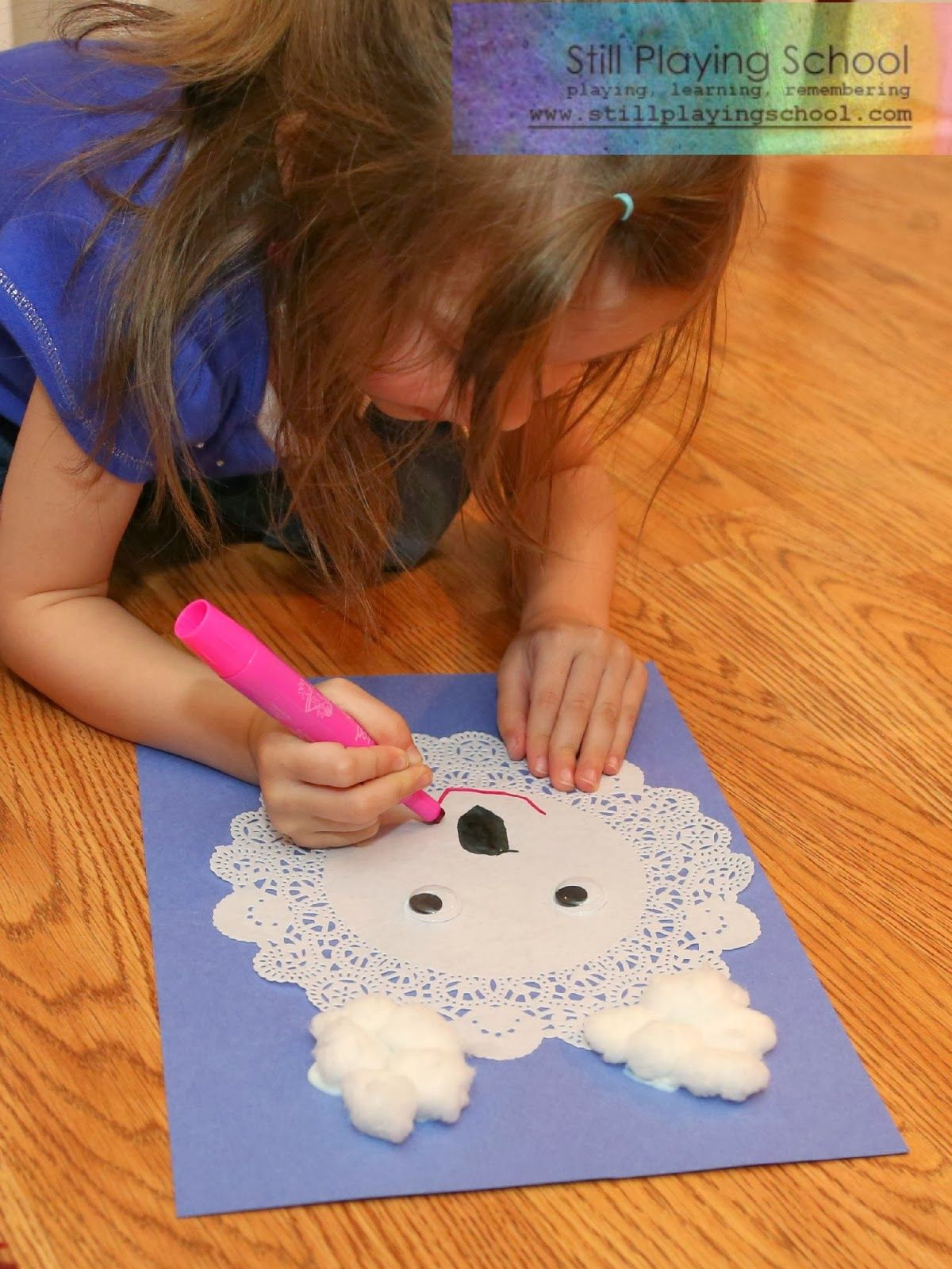 Polar Bear Doily Craft | Still Playing School