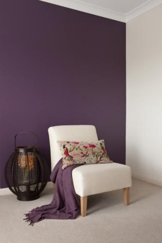 dazzling purple living room