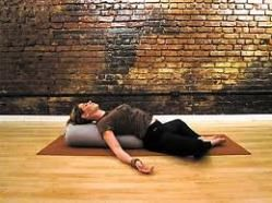 reclining baddhakonasana for fertility  restorative yoga