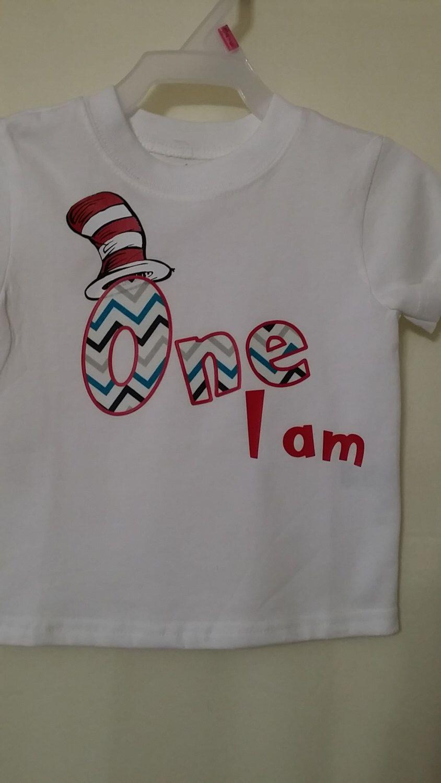 One I am, Dr. Seuss, Birthday Tshirt , Custom Onesie