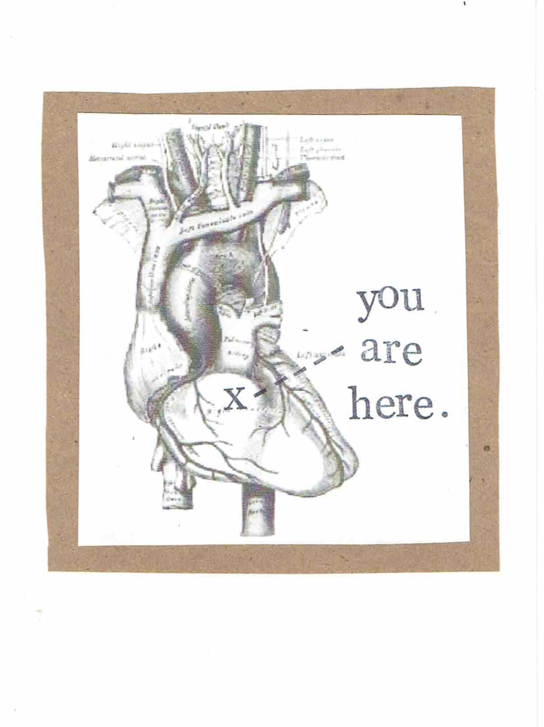 You Are Here Anatomical Heart Card