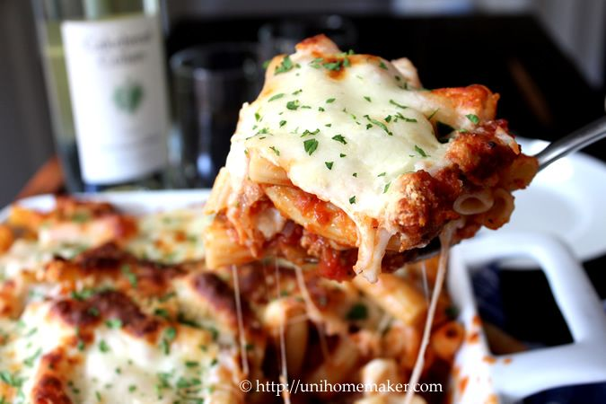 Baked Rigatoni with Chicken Sausage