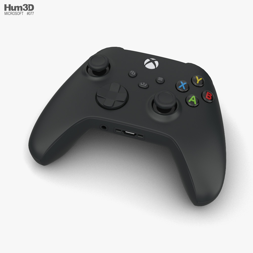 3d Model Of Microsoft Xbox Series X Controller Xbox 3d Model Microsoft