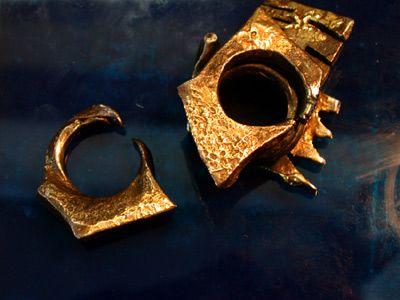 Ringe, Stahl, Gold