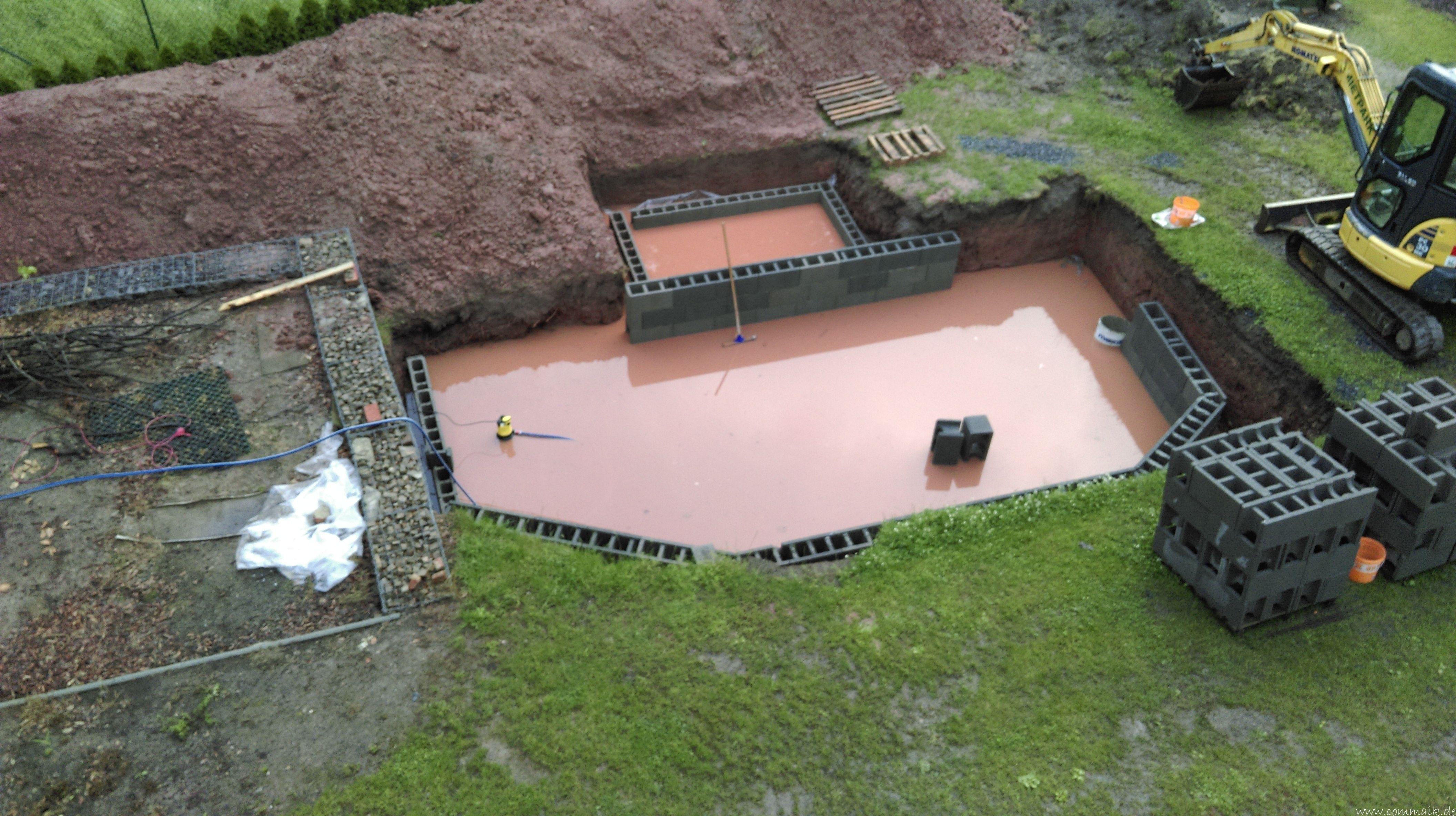 Projekt Poolbau Die Stutzmauern Kommen Und Der Pool Wird