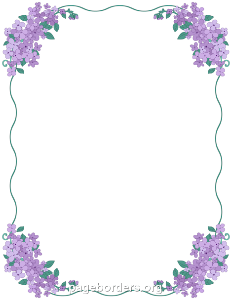 Printable Lilac Border Use The Border In Microsoft Word Or Other Pinterest Sampleresume Freepagebordersformicrosoftw Flower Border Page Borders Lilac Flowers