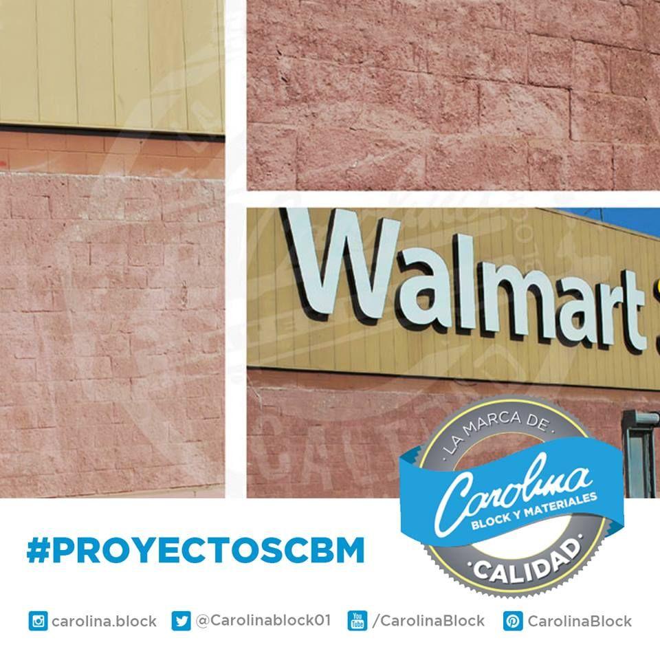 #PROYECTOSCBM. La calidad de #CarolinaBlock en #WalMart norte de #CdObregón. Materiales usados:  - #block cara cortada 20x20x40, color gris utilizando en exterior y en columnas. - #block liso 20x20x40, color gris para la estructura general.