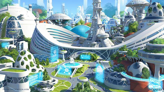 Showcase Of Mind Blowing Concept Art Of Futuristic Cities Futuristic City Futuristic Architecture Futuristic Art