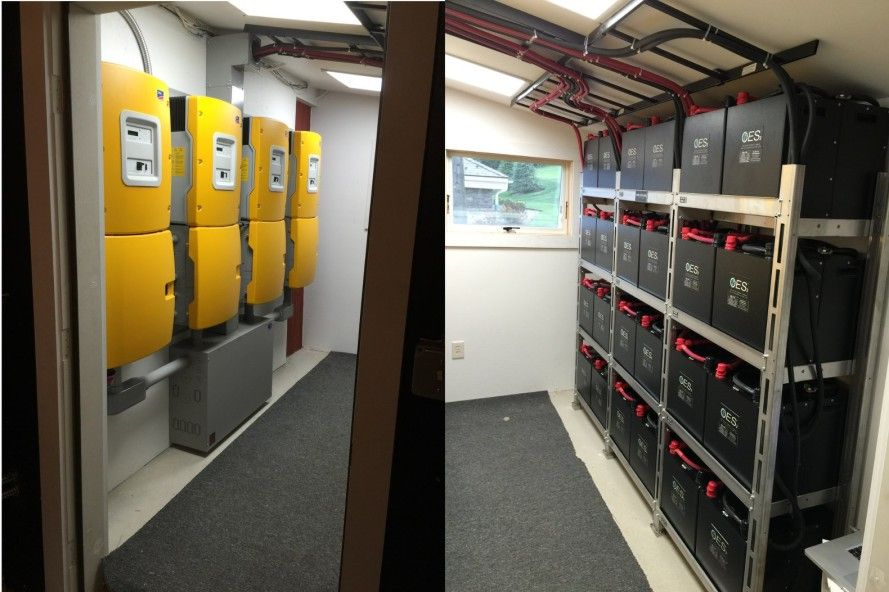 Solar Batteries For Home >> Smart Home S Solar Farm Stores Excess Energy In A Battery System