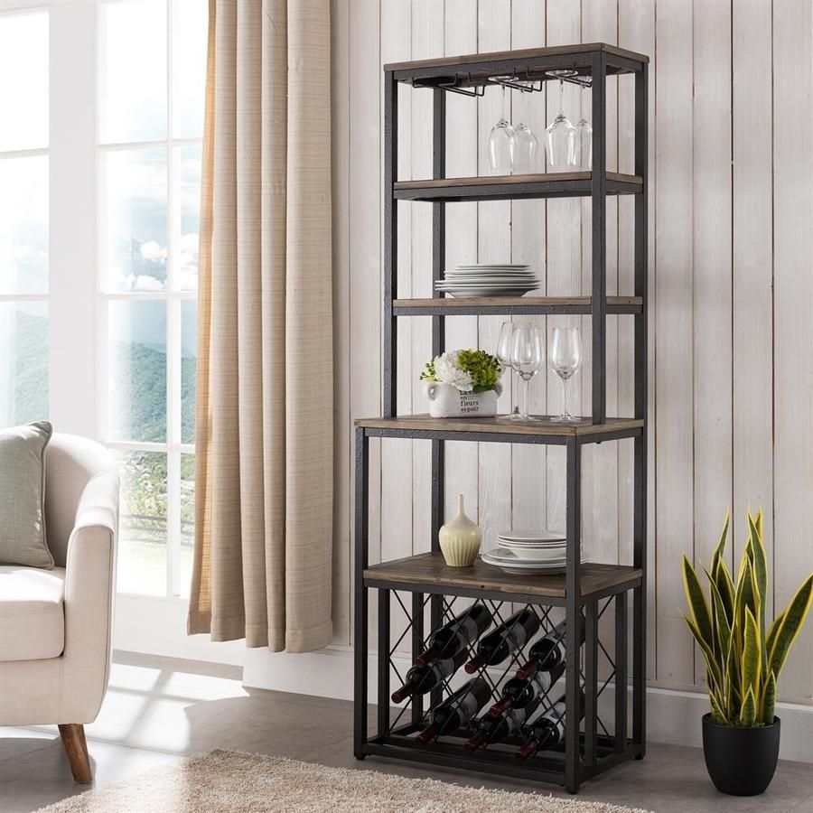 Boston Loft Furnishings Aberdale Rustic Black And Distressed Fir