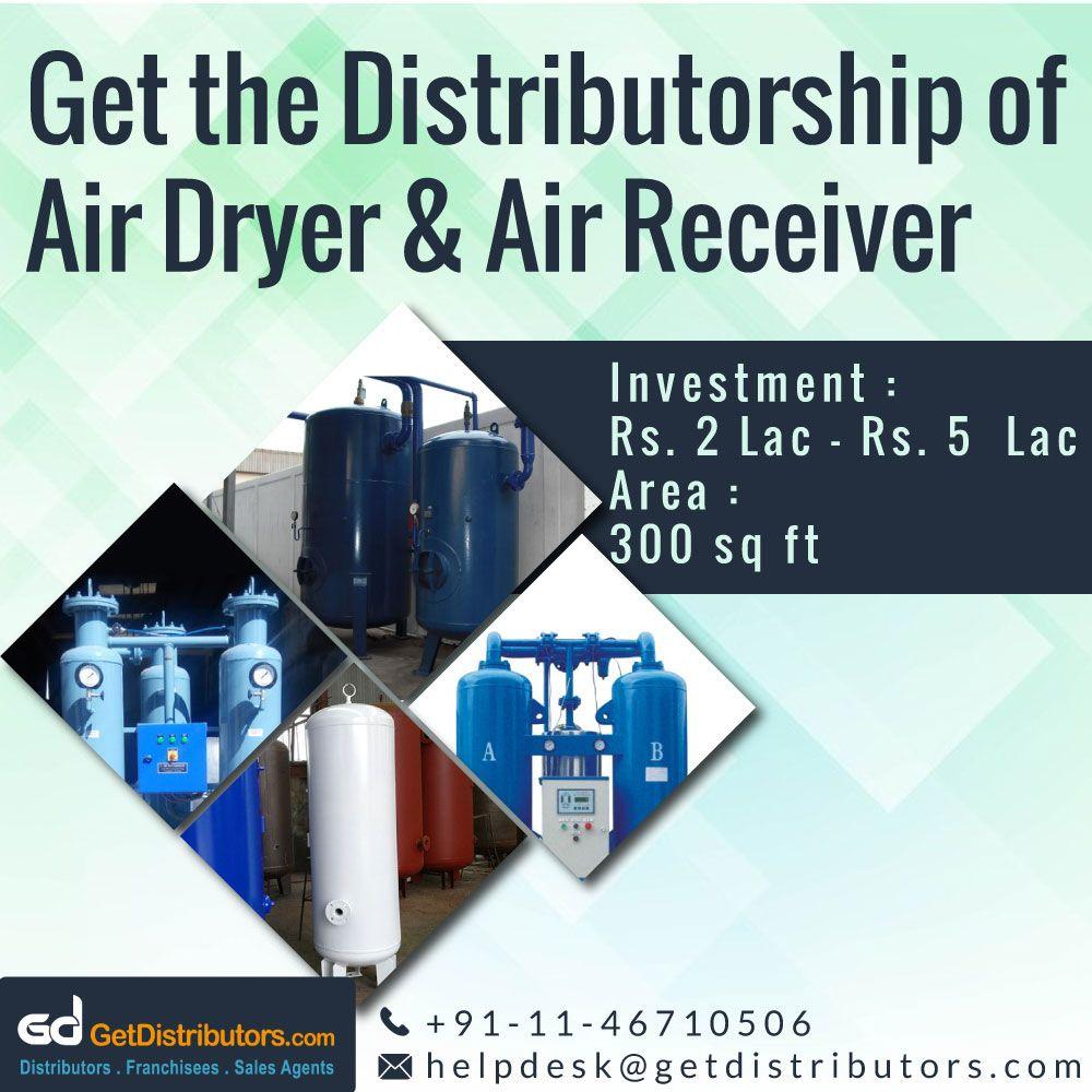 Get the distributorship of Air Dryer & Air Receiver