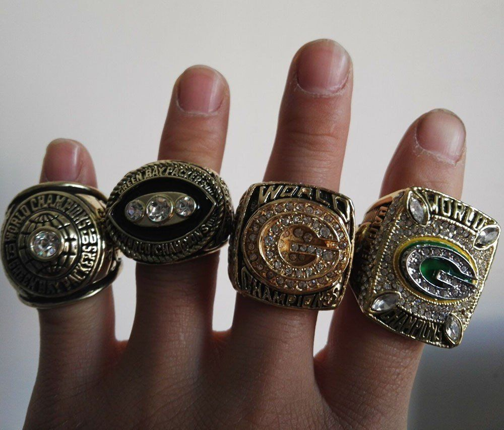 1966 1967 1996 2010 Green Bay Packers Superbowl Championship Rings Limited Edition Bundle Super Bowl Rings Green Bay Packers Green Bay Packers Football