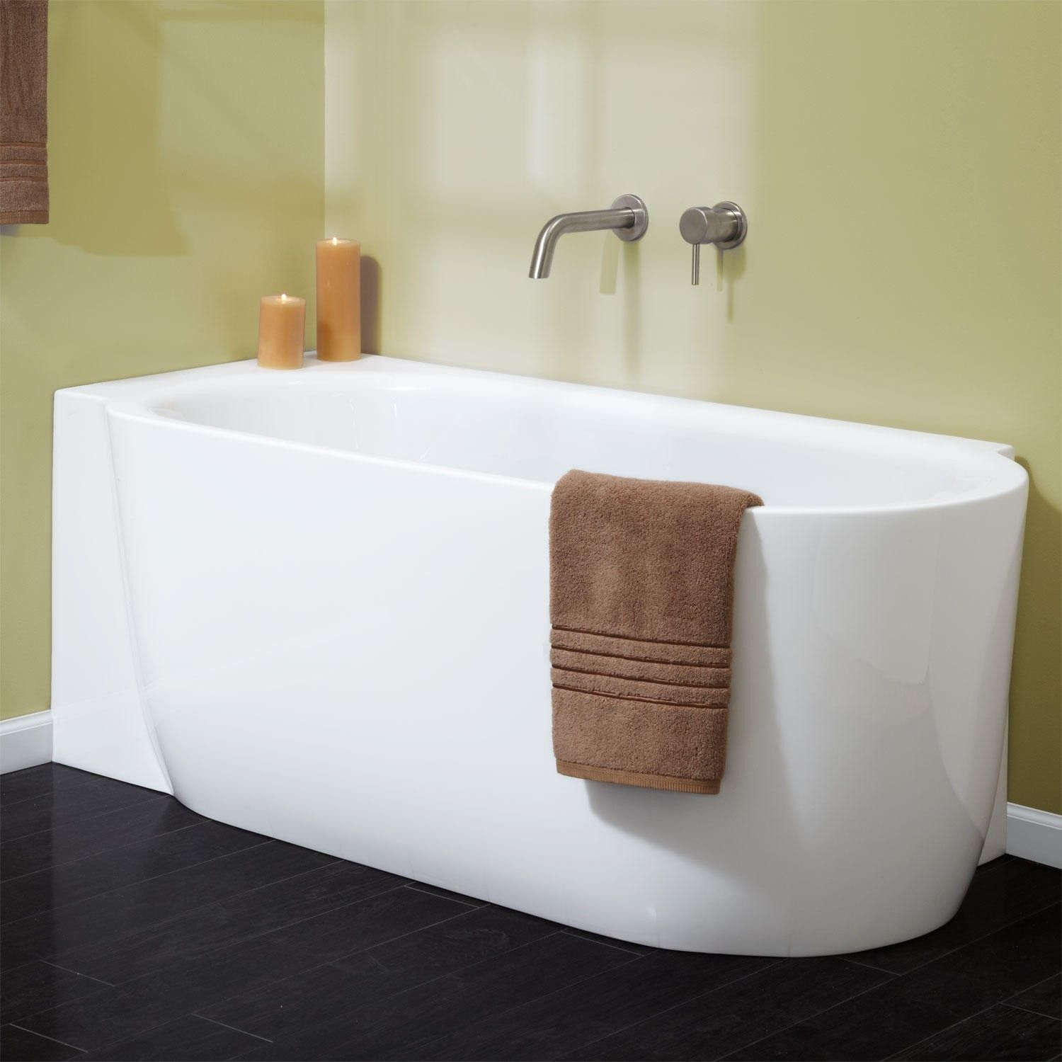 Superior A Perfect Fit For A Corner In Your Master Bathroom, The Averill  Freestanding Acrylic Tub Is Offered In Left  Or Right Side Corner. Choose  Your Ideal Style ... Awesome Ideas