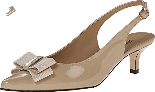 Womens Shoes Vaneli Tawnee Ecru Mag Patent/Mtch Gross Grain