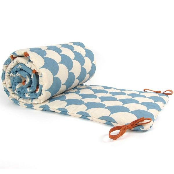 Tour de lit Bébé Blue Scales NOBODINOZ | ❤ Le Beau Linge ❤ | Lit ...