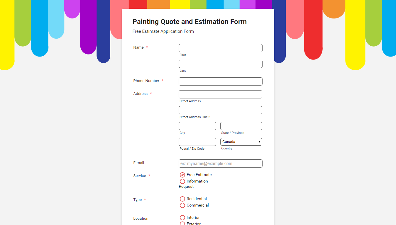 Dripping Paint online form | Beautiful Website Forms | Pinterest ...
