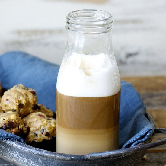Creamy Vanilla Almond Butter Is Paired With Warm Frothy