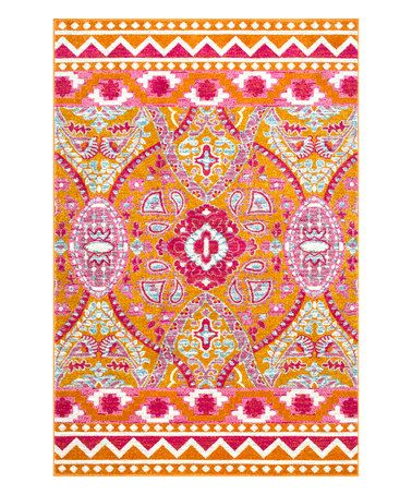 Loving this Multicolor Tiera Suzani Rug on #zulily! #zulilyfinds
