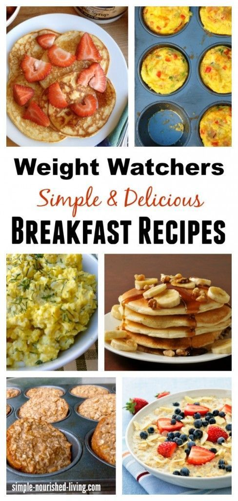 Weight Watchers Breakfast Recipes. Simple. Healthy. Delicious. All with Points Plus Values