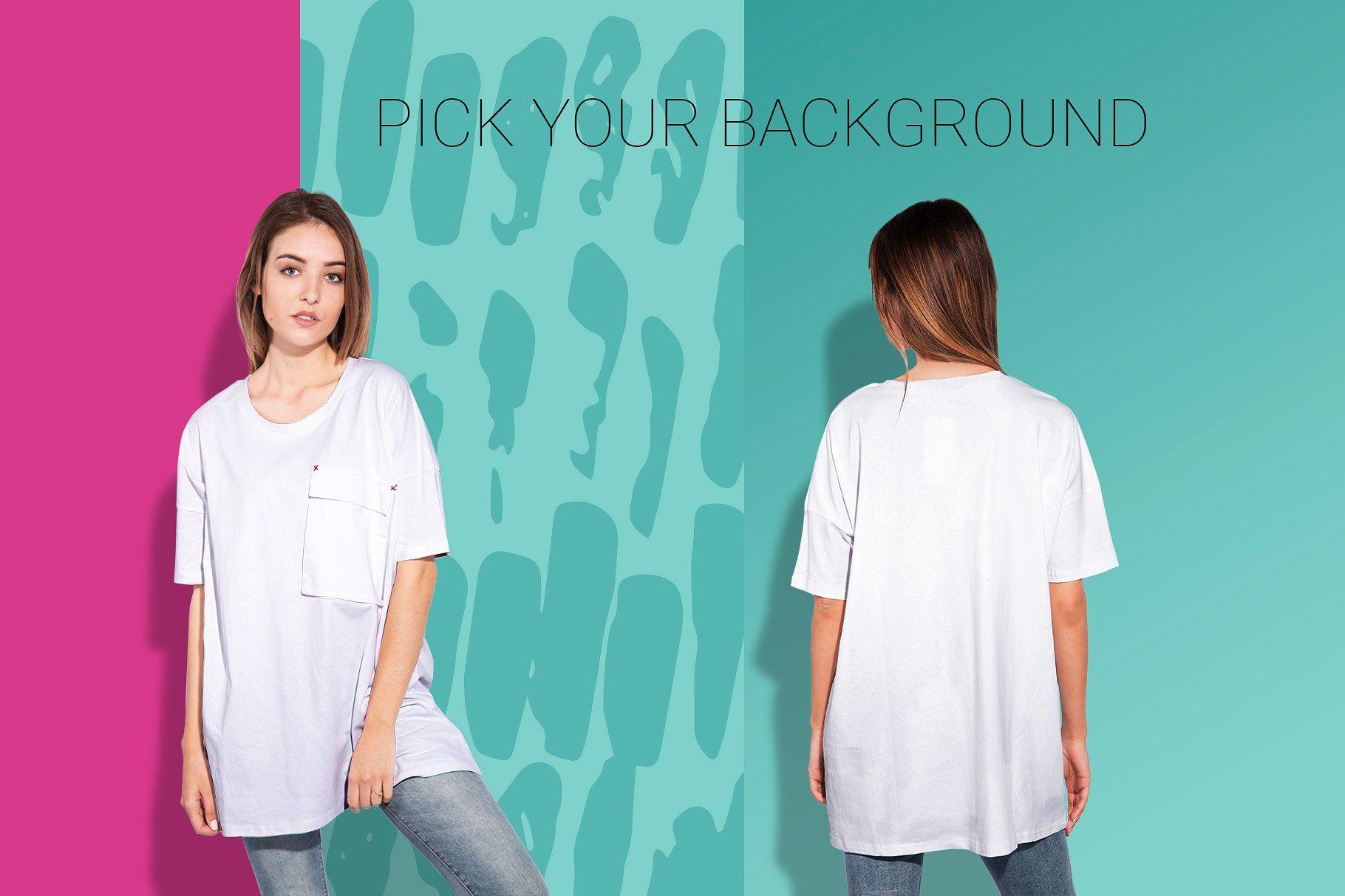 Download Woman Oversize T Shirt Mockup Set Shirt Mockup Tshirt Mockup Mockup