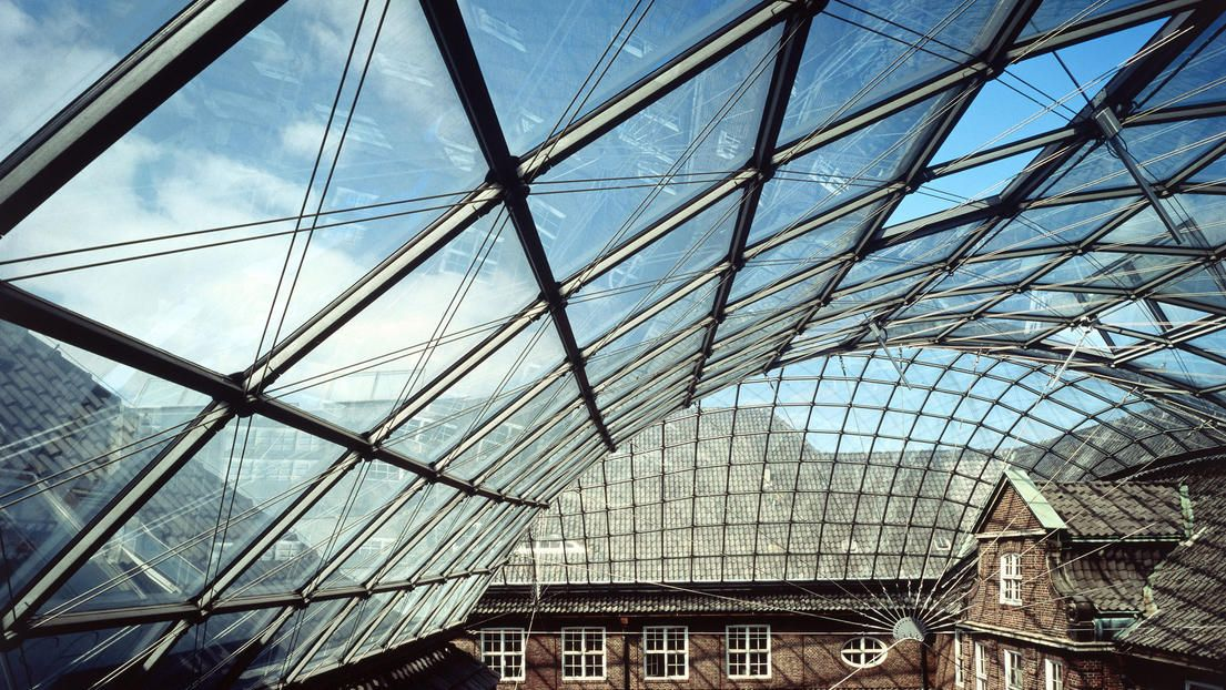 Museum Of Hamburg History Glass Roof Glass Roof Roofing Modern Roofing