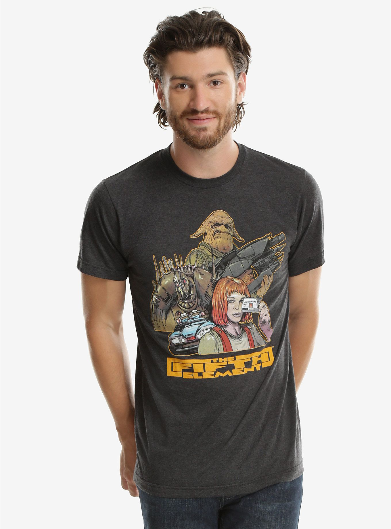 a9379603 Don't leave home without your Multipass   The Fifth Element Illustration Tee