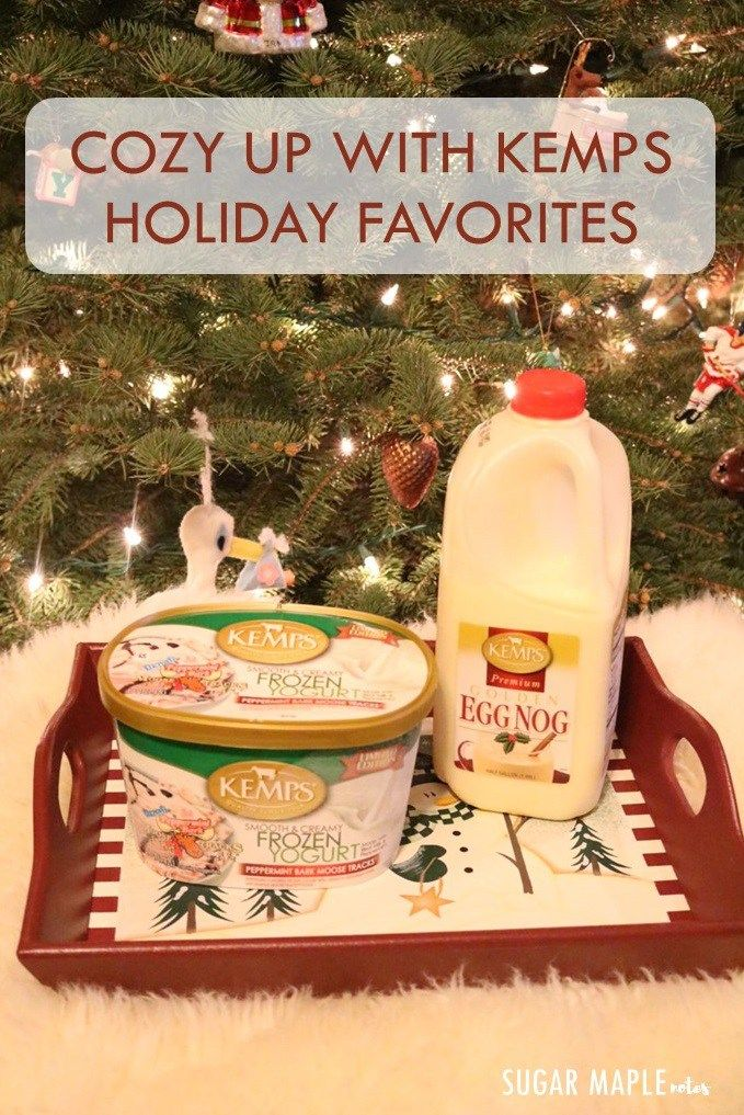 Cozy Up with Kemps Holiday Favorites   Moosetracks Peppermint Bark Ice Cream and Golden Eggnog @KempsCows