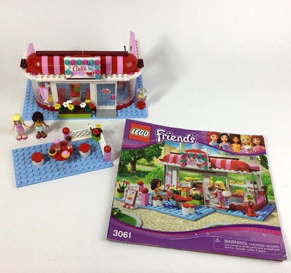 Genuine Lego Friends Cafe 3061 Set Near Complete Lego Lego