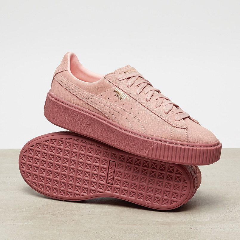 ab7cfd981f55 Puma Basket Platform Reset strawberry rose